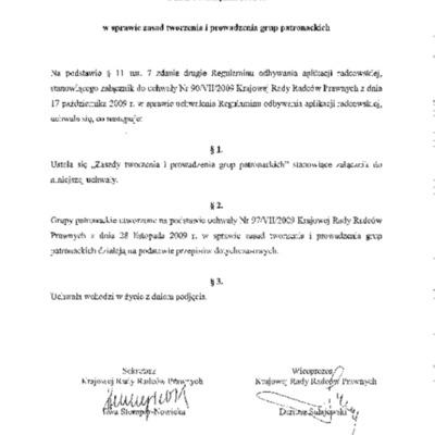 Nr 266 VIII 2012 PREZYDIUM 14.11.2012 zasad tworzenia i prowadzenia grup patronackich.pdf
