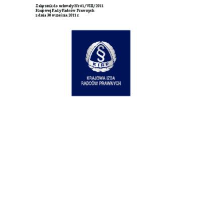 Księga znaku Krajowej Izby Radców Prawnych
